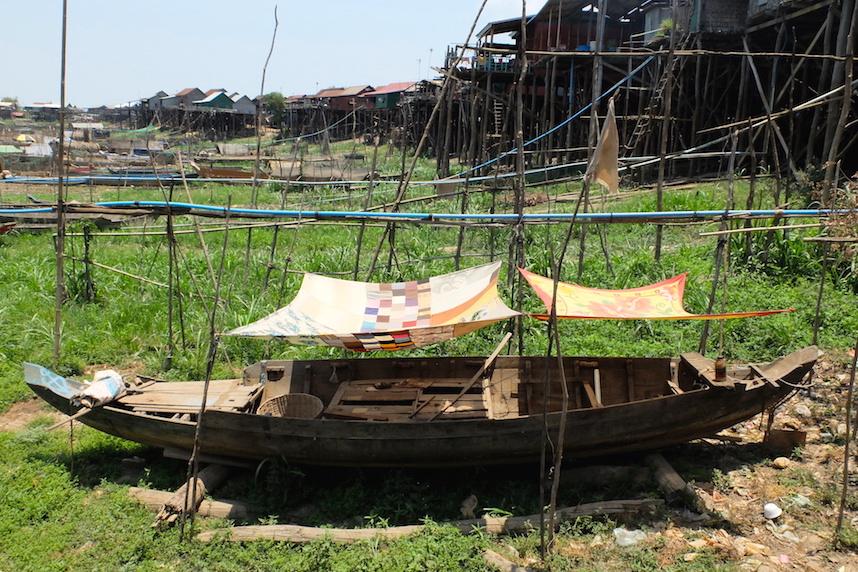 Bateau Kampong Khleang, Tonle Sap, Cambodge
