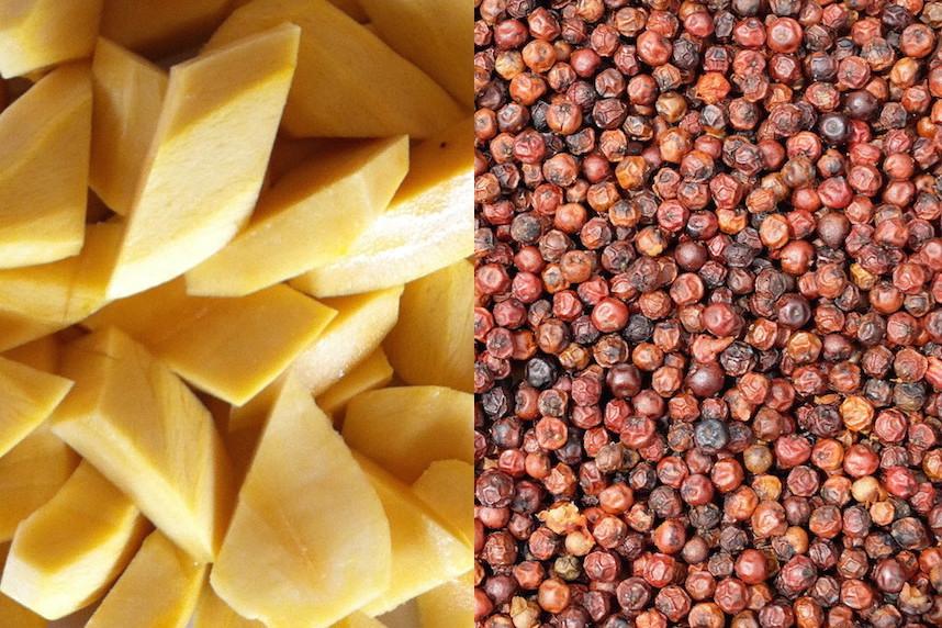 Mangues et poivre de Kampot