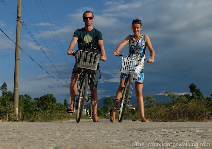 Phong Nha - ride across the cultivated fields